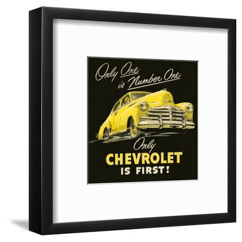 GM Only Chevrolet is First--Framed Art Print