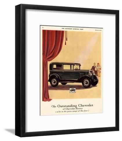 GM Outstanding Chevrolet--Framed Art Print