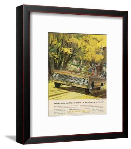 GM Oldsmobile-A Rocket Answers--Framed Art Print
