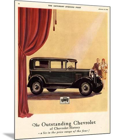 GM Outstanding Chevrolet--Mounted Premium Giclee Print