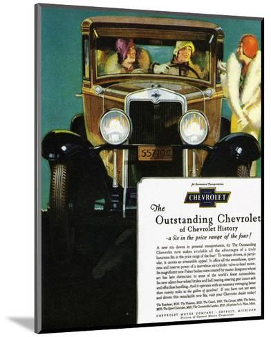 GM Outstanding Chevrolet--Mounted Art Print