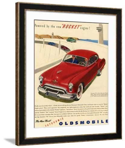 GM Oldsmobile - Rocket Engine--Framed Art Print