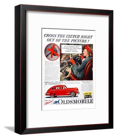 GM Oldsmobile-Cross the Clutch--Framed Art Print