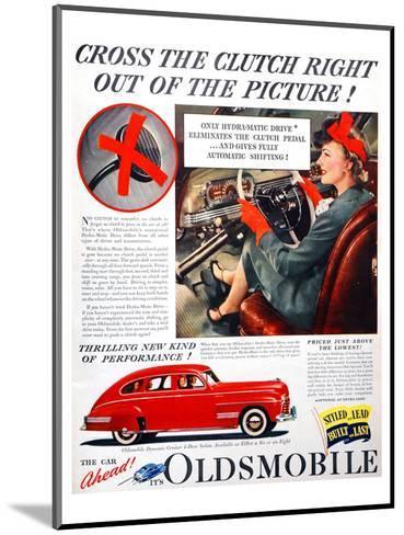 GM Oldsmobile-Cross the Clutch--Mounted Art Print