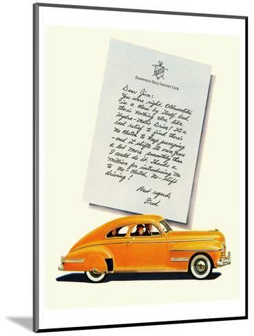 GM Oldsmobile-No Shift Driving--Mounted Art Print