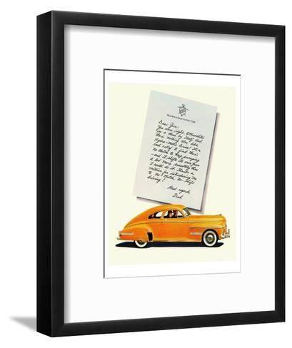 GM Oldsmobile-No Shift Driving--Framed Art Print