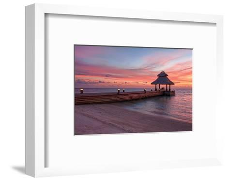 Indian Ocean Sunset Maldives--Framed Art Print