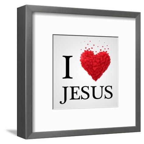 I Love Jesus Heart Graphic--Framed Art Print