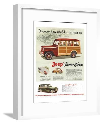 Jeep Station Wagon - Discover--Framed Art Print