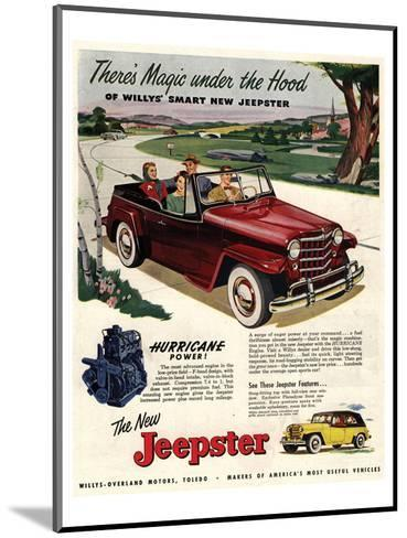 Jeepster Magic Under the Hood--Mounted Art Print