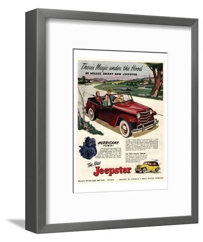 Jeepster Magic Under the Hood--Framed Art Print