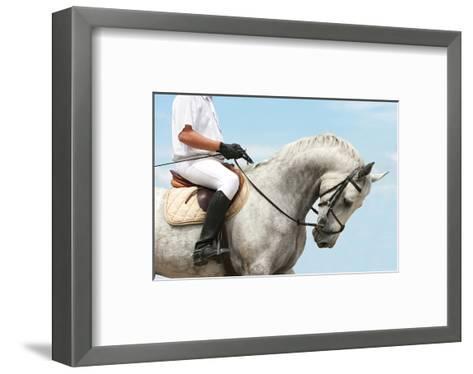 Jockey Riding Dressage Horse--Framed Art Print