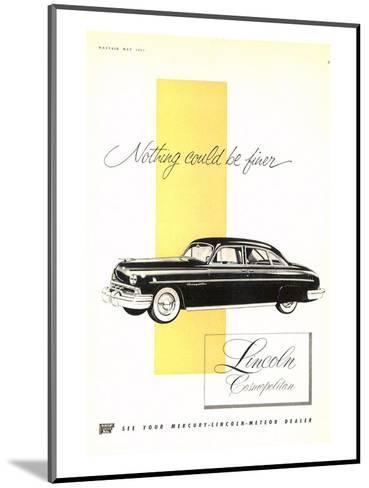 Lincoln 1951 Cosmopolitan--Mounted Art Print