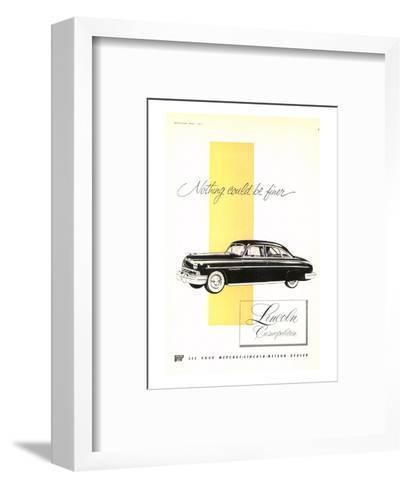 Lincoln 1951 Cosmopolitan--Framed Art Print