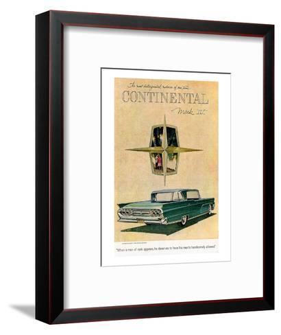 Lincoln 1959 Most Distinguished--Framed Art Print