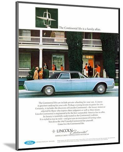 Lincoln 1967 - Family Affair--Mounted Art Print