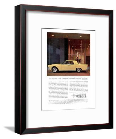 Lincoln 1961 Pure Elegance--Framed Art Print