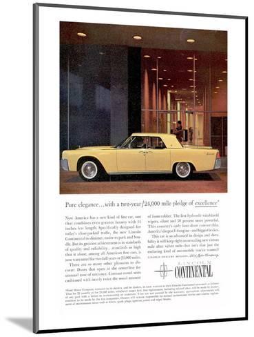 Lincoln 1961 Pure Elegance--Mounted Art Print