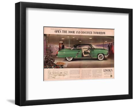 Lincoln 1953 Discover Tomorrow--Framed Art Print
