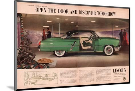 Lincoln 1953 Discover Tomorrow--Mounted Art Print