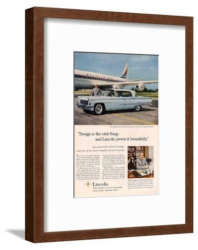 Lincoln 1959 Douglas: Design--Framed Art Print