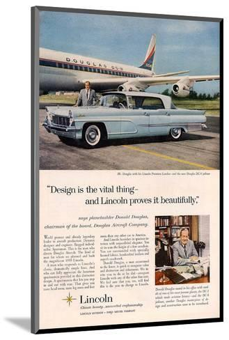 Lincoln 1959 Douglas: Design--Mounted Art Print