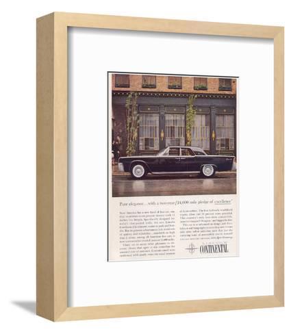 Lincoln 1961 Advanced Design--Framed Art Print