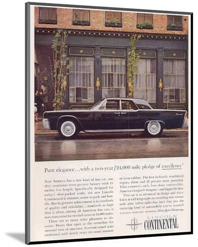 Lincoln 1961 Advanced Design--Mounted Art Print