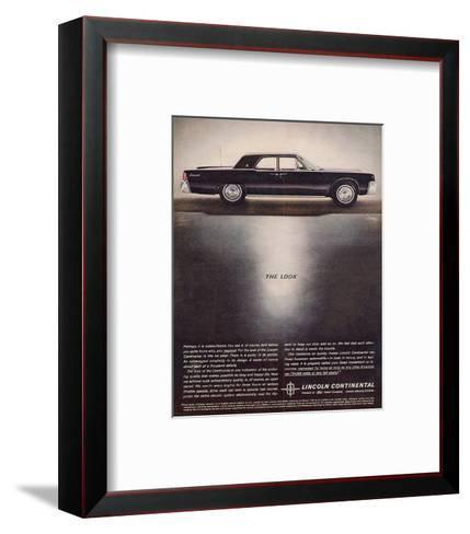 Lincoln 1962 - the Look--Framed Art Print