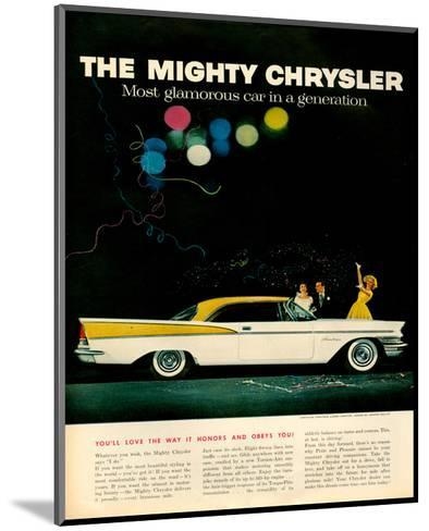Mighty Chrysler Saratoga--Mounted Art Print