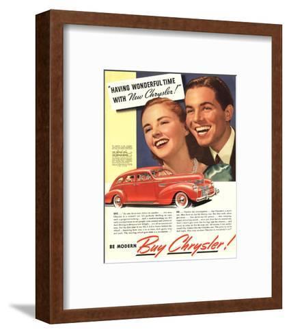 New Chrysler - Wonderful Time--Framed Art Print