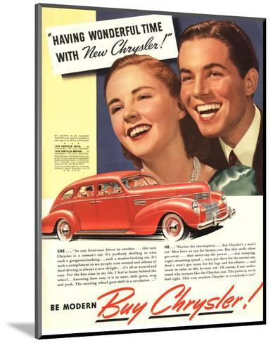 New Chrysler - Wonderful Time--Mounted Art Print