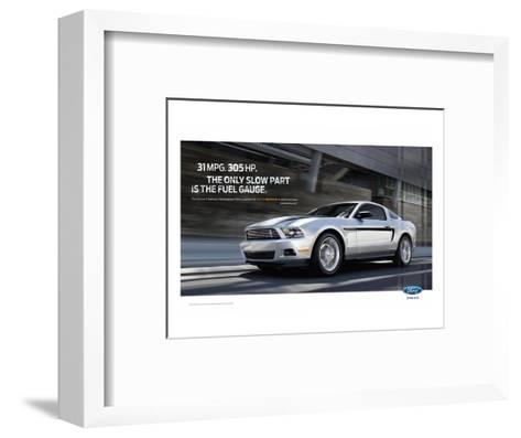 Mustang 2011 - 31Mpg - 305Hp--Framed Art Print