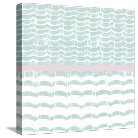 Refraction - Aqua- Sukhanlee-Stretched Canvas Print