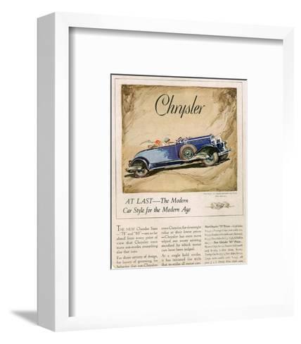 New Chrysler 75-The Modern Car--Framed Art Print