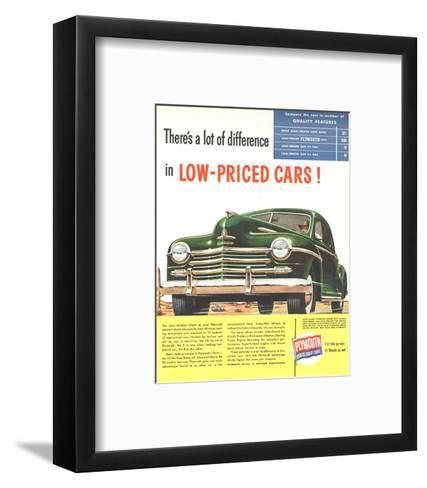 Plymouth Builds Great Cars--Framed Art Print