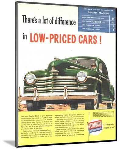 Plymouth Builds Great Cars--Mounted Premium Giclee Print