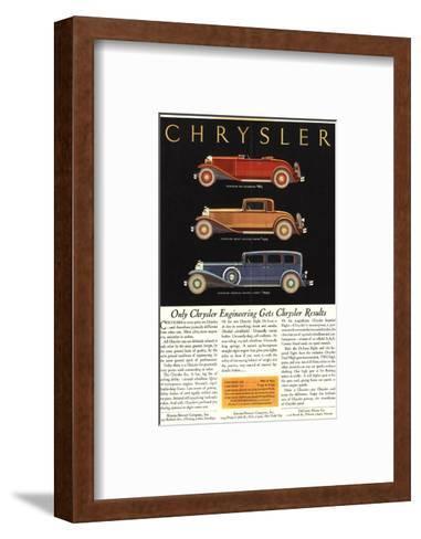 Only Chrysler Engineering…--Framed Art Print