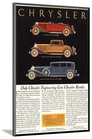 Only Chrysler Engineering…--Mounted Art Print