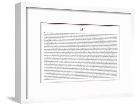Pi 5000 Digits Math-SM Design-Framed Art Print