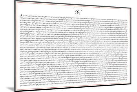 Pi 5000 Digits Math-SM Design-Mounted Art Print