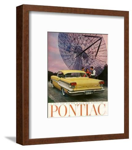 Pontiac-A Bold New Gerneration--Framed Art Print