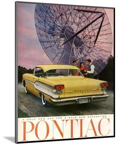 Pontiac-A Bold New Gerneration--Mounted Art Print