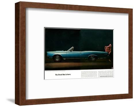 Pontiac-The Great One is Here--Framed Art Print