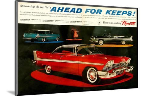 Plymouth - Ahead for Keeps!--Mounted Art Print