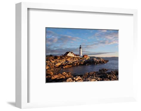 Portland Maine Head Light Dawn--Framed Art Print