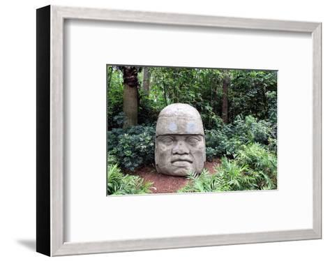 Olmec Head in a Forest--Framed Art Print