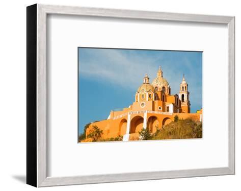 Santuario Cholula Puebla Mexico--Framed Art Print