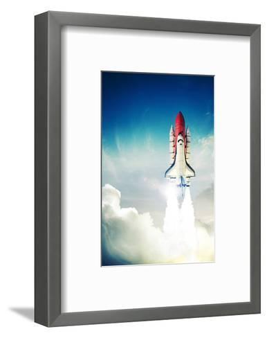 Space Shuttle Taking Off--Framed Art Print