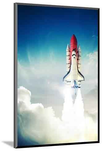 Space Shuttle Taking Off--Mounted Art Print